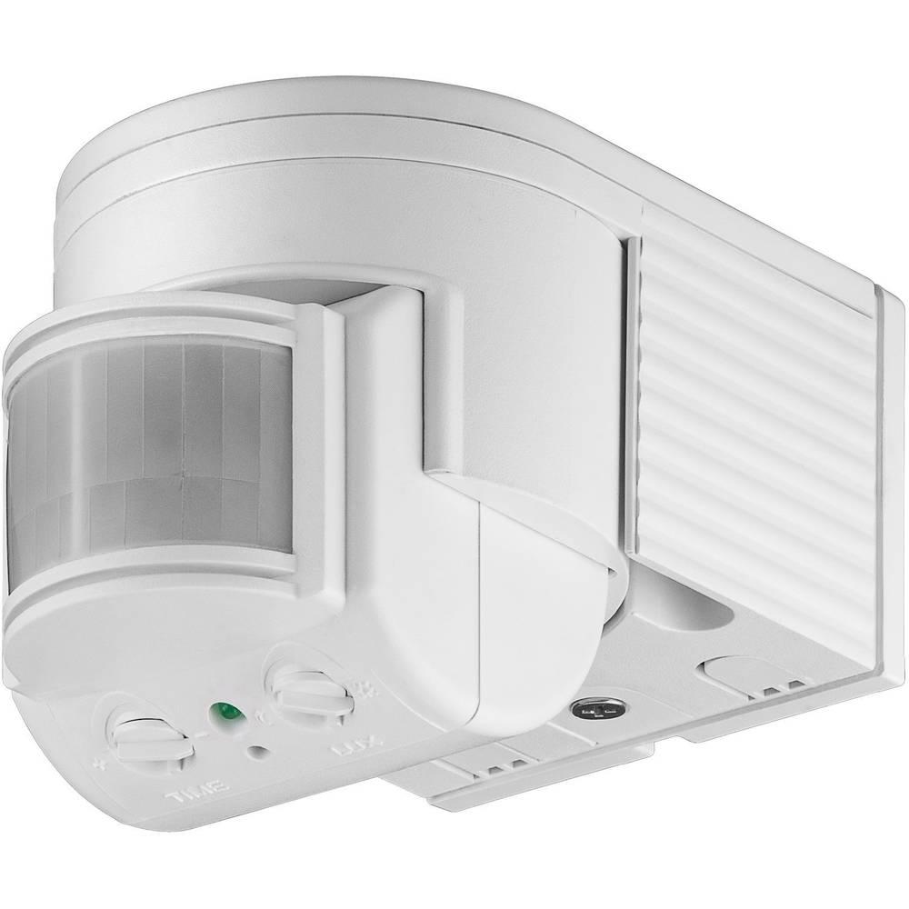 Podometni PIR-senzor gibanja Goobay 95175 180 ° rele bele barve IP44