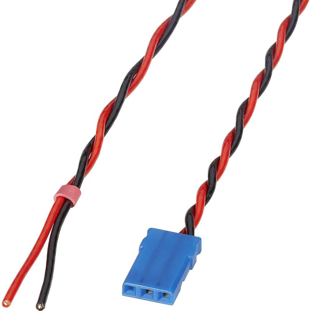 Priključni kabel za akumulator Deluxe [1x JR-utičnica - 1x otvoreni kraj] 300 mm 0.50 mm uvrnut Reely
