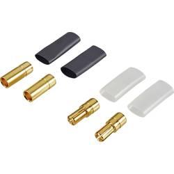 Akumulatorski vtič Deluxe 5.5 mm pozlačen 2 para Reely 83504-2
