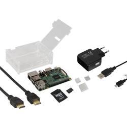 Raspberry Pi® 3 B Basic Complete-Set 1 GB 4 x 1.2 GHz uklj. kućište, uklj. HDMI kabel , Uklj. Noobs OS, uklj. hladnjak, Uklj