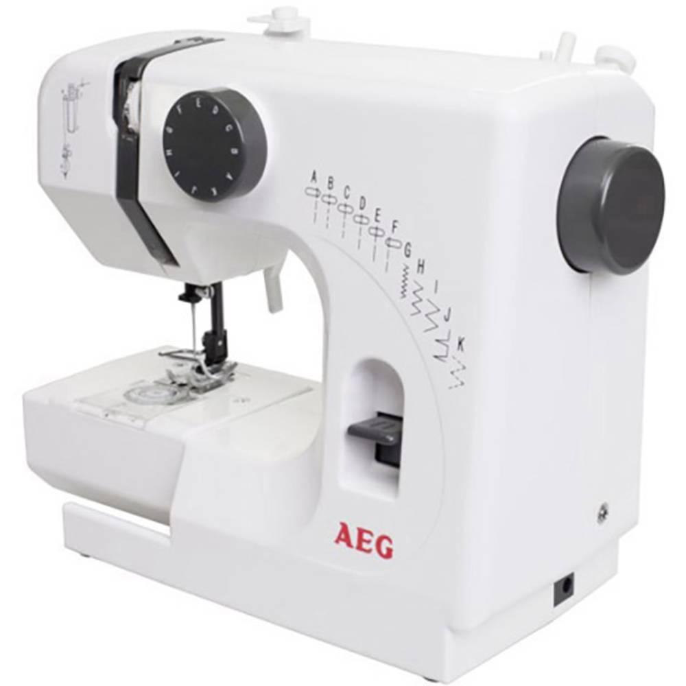 Symaskin med friarm AEG NM 100 kompakt Vit, Grå