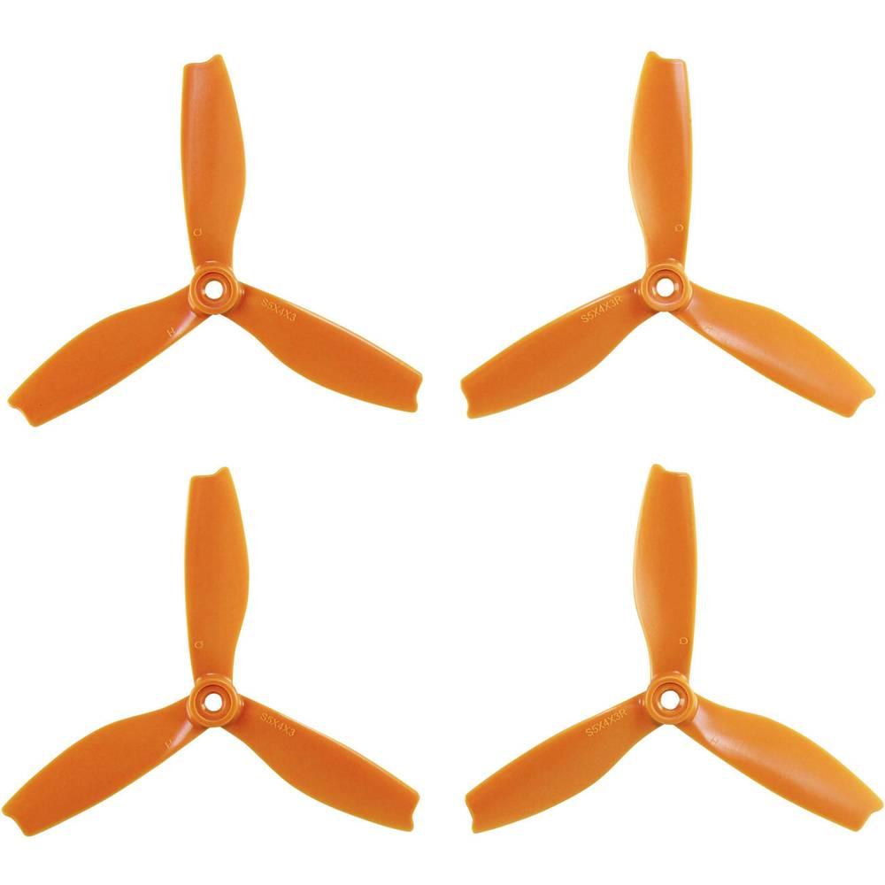 HQ Prop 3 rezila Komplet propelerjev za dirkalni kopter Radiusni 5 x 4  (12.7 x 10.2 cm) DPS5X4X3O