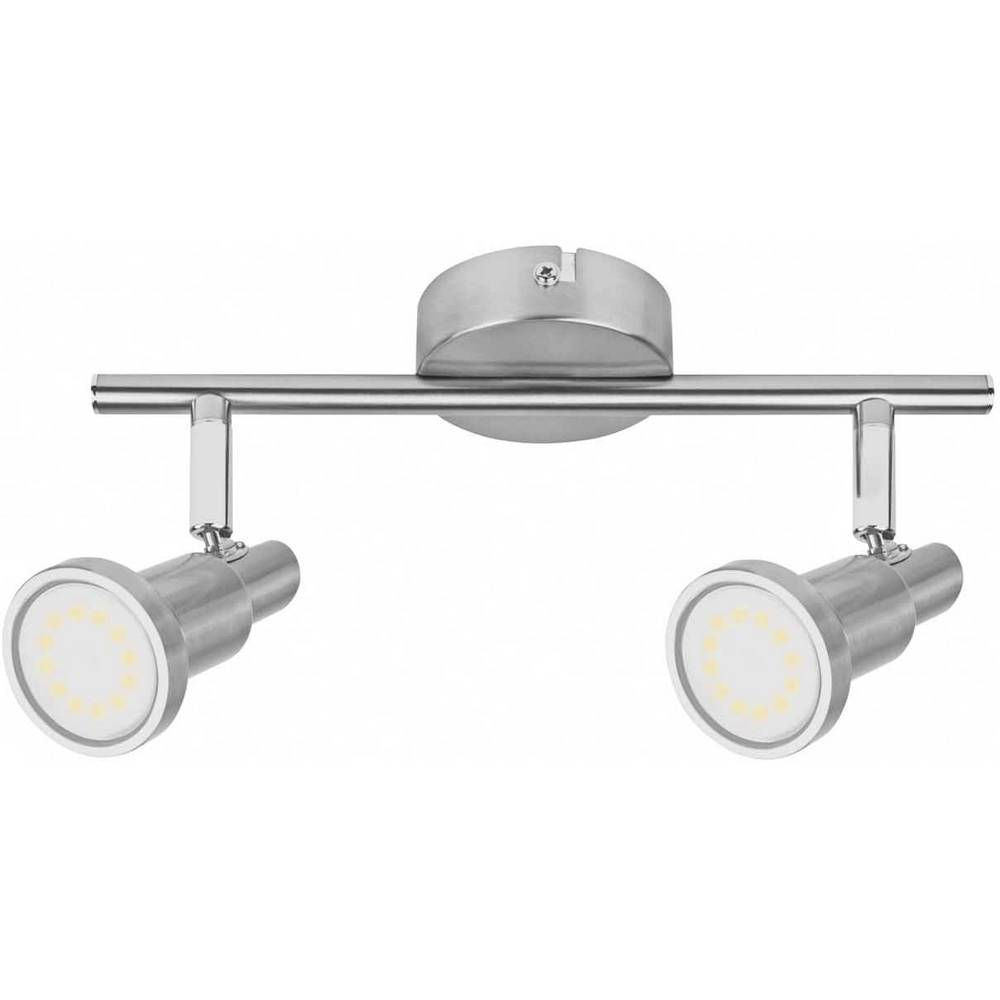Tak-spotlights OSRAM LED Spot 2x3W grå GU10 2x3 W IP20 Nickel (borstad)