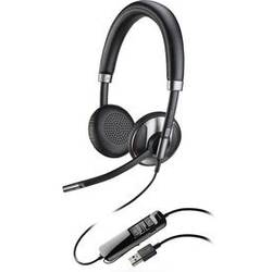Telefonske slušalke USB žične, Plantronics Blackwire C725M na-ušesne slušalke črne barve