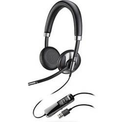 Telefonske slušalke USB žične, Plantronics Blackwire C725 na-ušesne slušalke črne barve