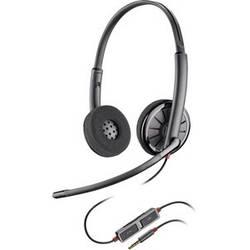 Telefonske slušalke 3.5 mm Klinke žične, Plantronics Blackwire C225 na-ušesne slušalke črne barve
