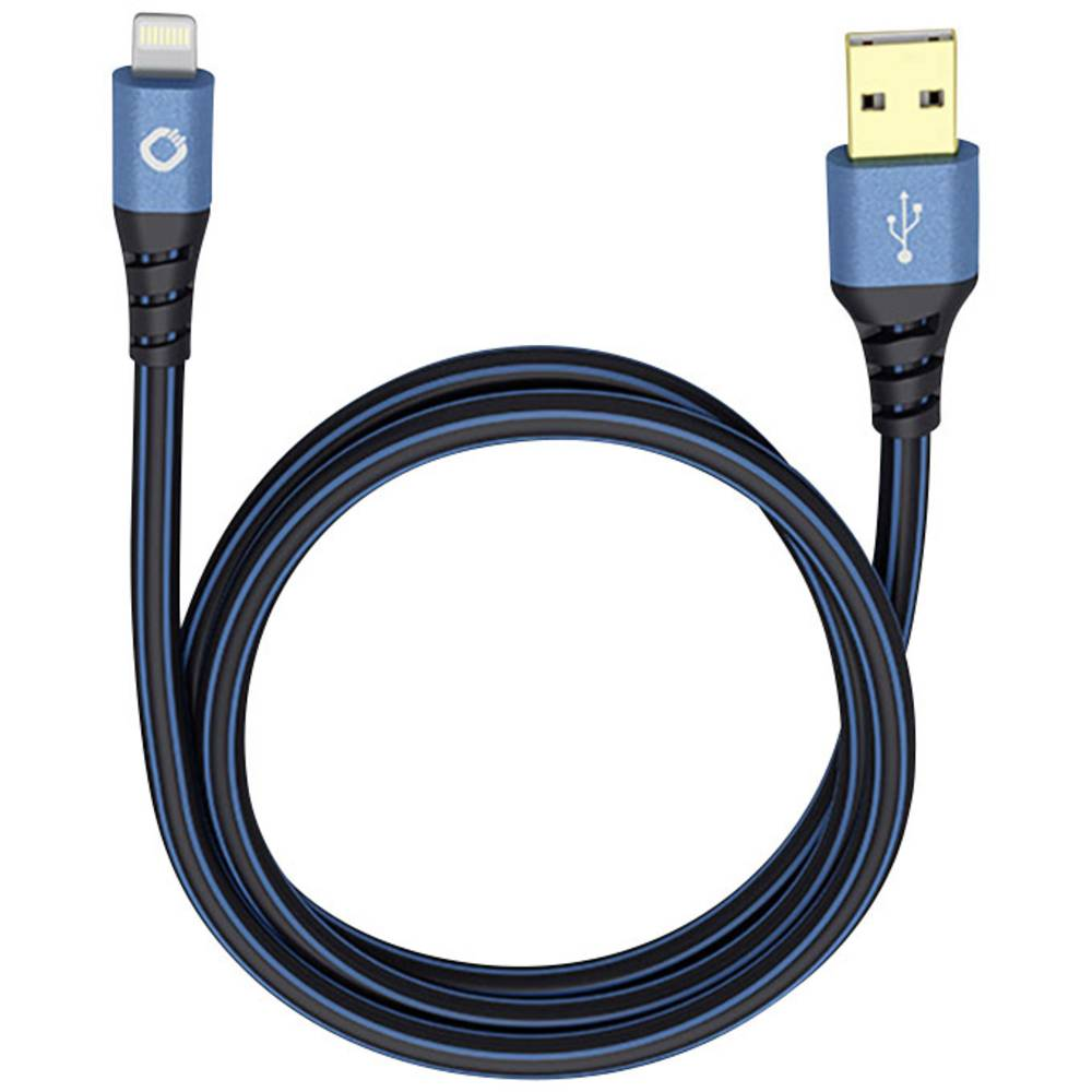iPad/iPhone/iPod kabel za prijenos podataka i punjenje [1x USB 2.0 utikač A - 1x utikač Apple Dock Lightning] 0.25 m crveni/crni