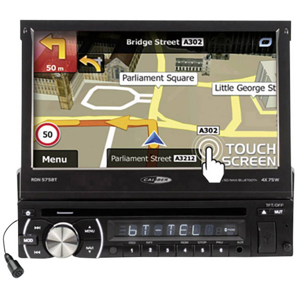 Moniceiver Caliber Audio Technology RDN575BT, daljinsko upravljnaje, zaslon 17,8 cm, navigacija, CD/DVD, USB microSD