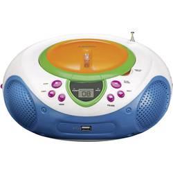Barn CD-spelare Lenco SCD-40 USB Kids Flerfärgad
