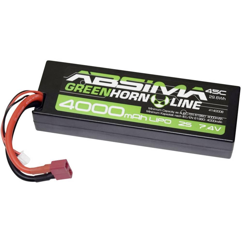 Modelarski akumulatorski komplet (LiPo) 7.4 V 4000 45 C Absima Hardcase T-vtični sistem