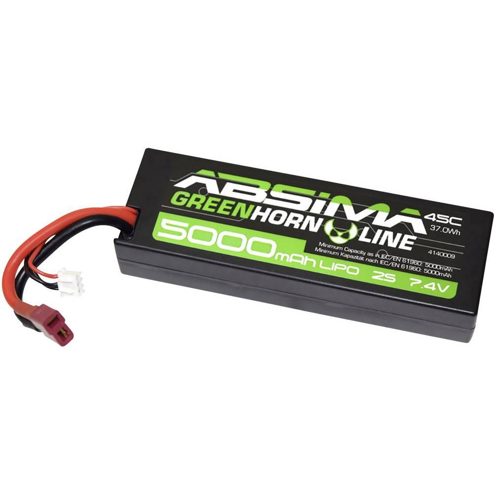 Modelarski akumulatorski komplet (LiPo) 7.4 V 5000 45 C Absima Hardcase T-vtični sistem