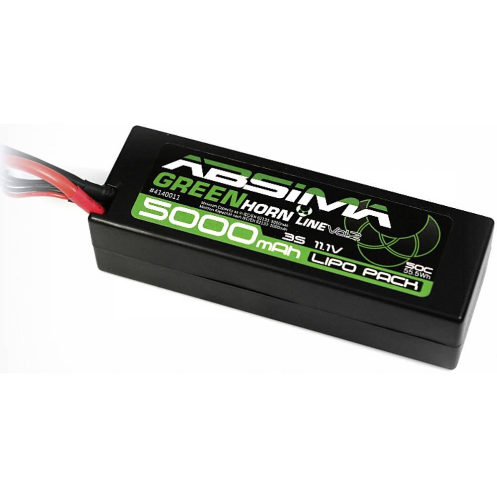 Modelarski akumulatorski komplet (LiPo) 11.1 V 5000 45 C Absima Hardcase T-vtični sistem