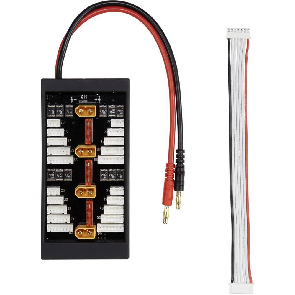 LiPo uravnalni adapter, izvedba polnilnika: XT60-vtični sistem izvedba akumulatorja: banana vtič primeren za celice: 2 - 6 VOLTC