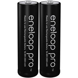 Laddbart batteri R6 (AA) NiMH Panasonic eneloop pro 2450 mAh 1.2 V 2 st
