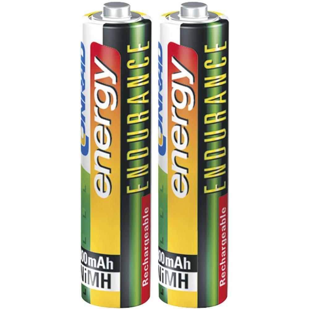 Micro (AAA) akumulatorska baterija NiMH Conrad energy Endurance HR03 800 mAh 1.2 V 2 kosa