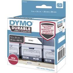 DYMO etikete (v rolah) 89 x 25 mm polipropilenska folija bele barve 100 kosov trajne 1976200 univerzalne-etikete, naslovne-etike