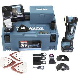Multiverktyg batteridriven Inkl. 2x batteri, Inkl. Tillbehör, Inkl. väska 43 delar 10.8 V 4 Ah Makita TM30DSMJX5 TM30DSMJX5