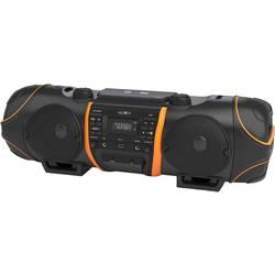 UKW Ghettoblaster Reflexion CDR1000BT AUX, Bluetooth®, CD, UKW, USB s karaoke funkcijo črne barve, oranžne barve
