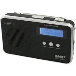 DAB+ radio v kovčku Reflexion TRA5000D+ DAB+, UKW ponovno napolnljiv črne barve