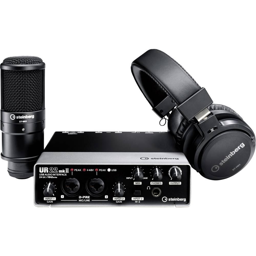 Audio vmesnik Steinberg UR22 MKII Recording Pack vklj. programsko opremo in nadzor monitorja