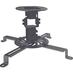 Stropni nosilec za projektorje Nagibni in obračalni Tla-/oddaljenost od stropa (maks.): 15 cm Manhattan Črna