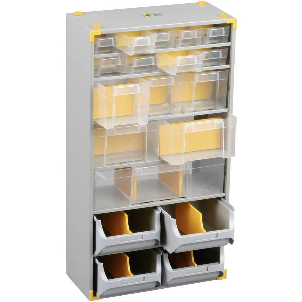 Sortirni predalnik za delavnico (D x Š x V) 300 x 165 x 565 mm Allit 465610 št. predalov: 19