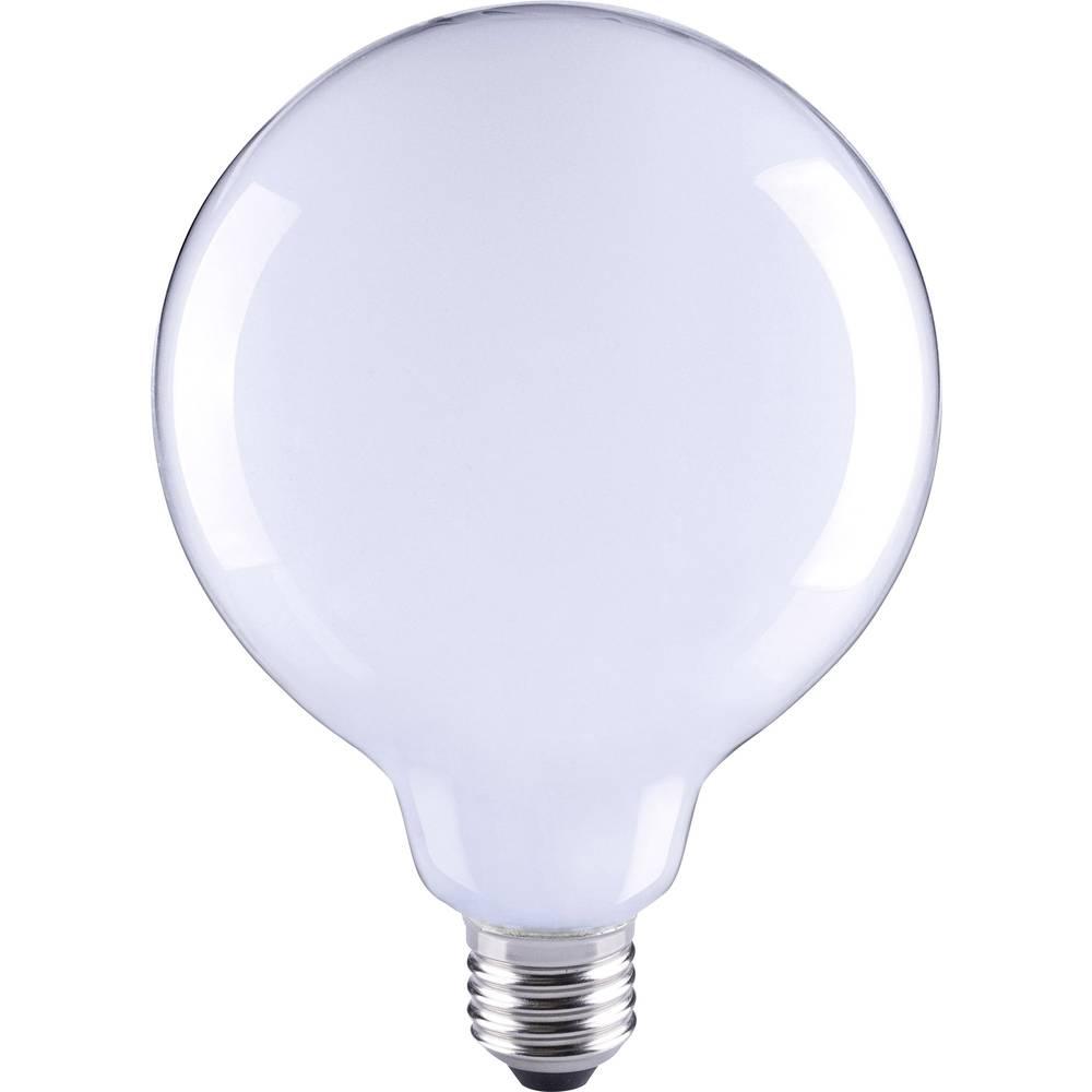LED žarnica E27 okrogla oblika 6 W = 55 W topla bela (premer x D) 80 mm x 115 mm EEK: A++ Sygonix filament 1 kos