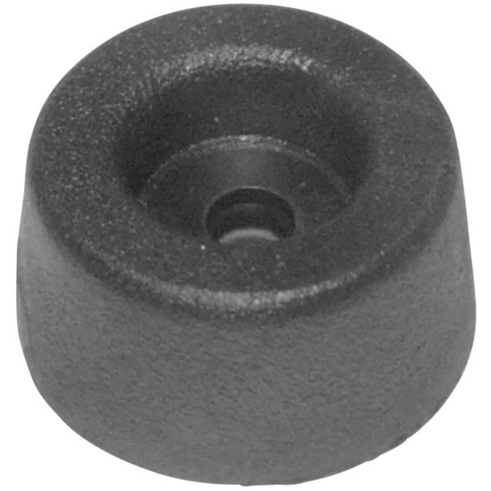Nogica za naprave Za privitje Črna (Ø x V) 17.5 mm x 9 mm 1 KOS