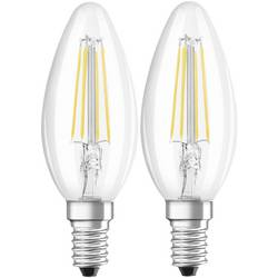 LED Kronljus E14 OSRAM Filament 4 W 470 lm A++ Varmvit 2 st