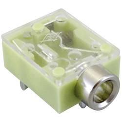 Klinken vtični konektor 3.5 mm vtičnica, vodoravna namestitev št. polov: 3 stereo, barva mete TRU Components 1 kos