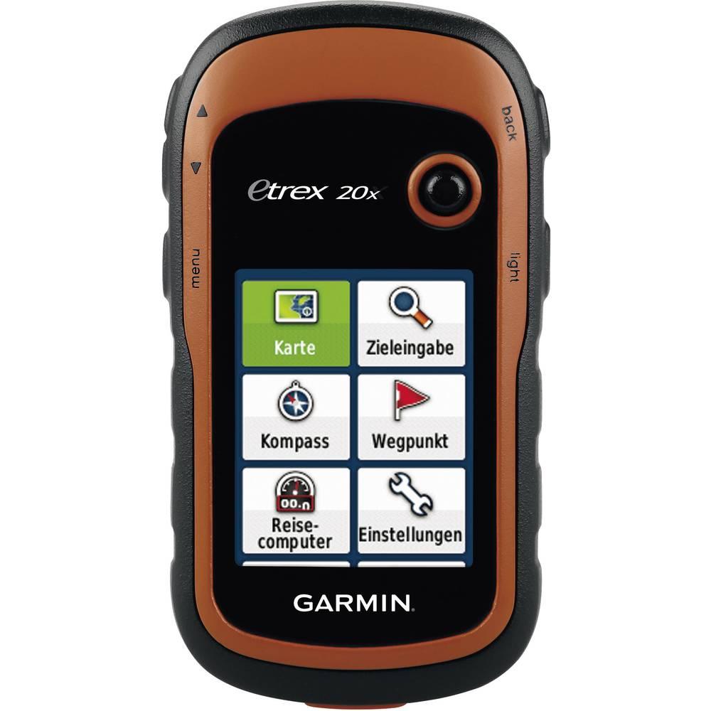 Garmin eTrex 20x Outdoor navigacija Kolesarjenje, Čoln, Geocaching Zahodna Evropa GLONASS, GPS, Zaščita pred brizganjem vode