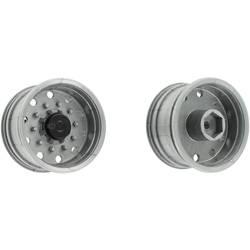 Carson Modellsport 1:14 Priklopnik za tovornjak Platišča 27.5 mm Plastika Euro-Optik Srebrna 1 par