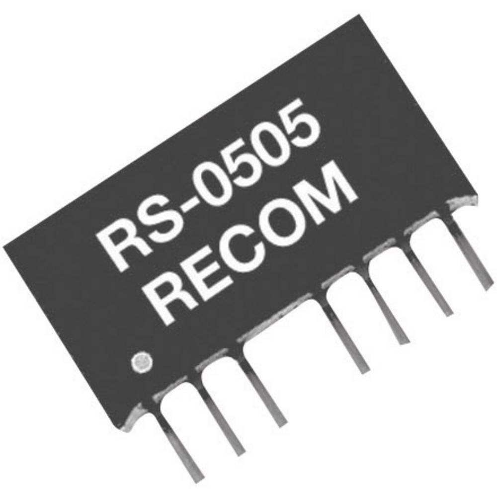DC/DC pretvornik za tiskano vezje RECOM RS-4805D 48 V/DC 5 V/DC, -5 V/DC 200 mA 2 W št. izhodov: 2 x