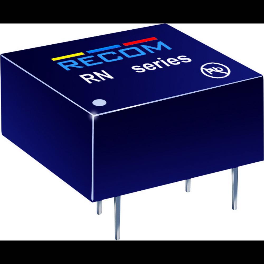 DC/DC pretvornik za tiskano vezje RECOM RN-2405S/P 24 V/DC 5 V/DC 250 mA 1.25 W št. izhodov: 1 x