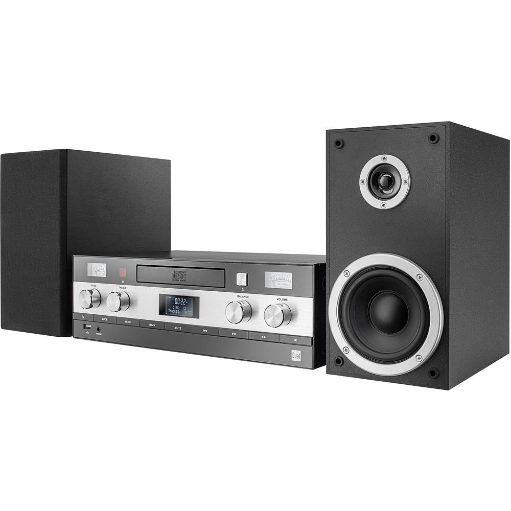 Stereo uređaj Dual DAB-MS 130 AUX, Bluetooth®, CD, DAB+, UKV, USB, 2 x 25 W, crne boje