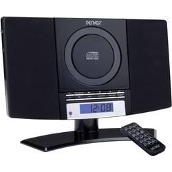 Stereo naprava Denver MC-5220 AUX, CD, UKV, stenska montaža, črne barve