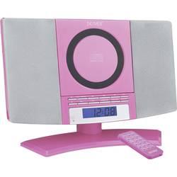 Stereo naprava Denver MC-5220 AUX, CD, UKV, stenska montaža, rožnate barve