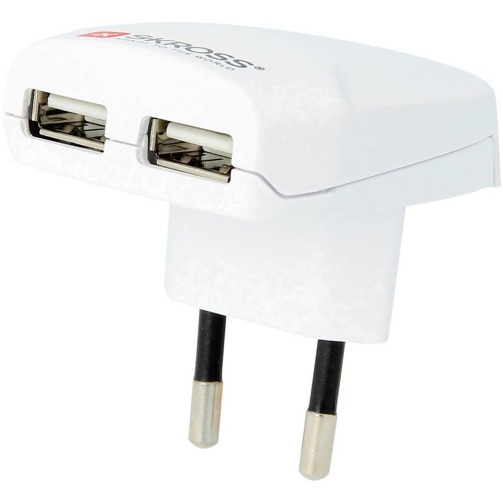 USB-vtični polnilnik Skross 1.302402 izhodna napetost (maks.) 2100 mA 2 x USB