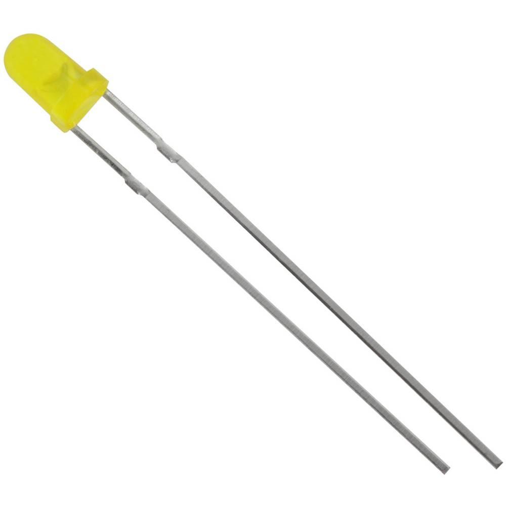 Ožičena LED dioda, rumena, okrogla 3 mm 1300 mcd 60 ° 20 mA 2.1 V HuiYuan 3034Y1D-EHE-C