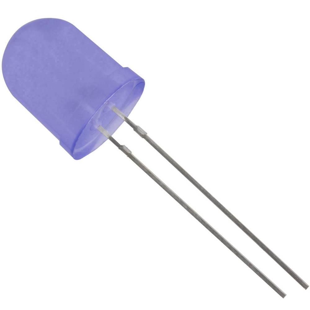 Ožičena LED dioda, modra, okrogla 10 mm 700 mcd 50 ° 20 mA 3.1 V HuiYuan 10034B2D-EHD-A