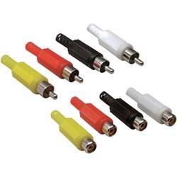 Činč konektor Ravni ženski konektor, Ravni muški konektor Broj polova: 2 Mono Žuta, Crvena, Crna, Bijela TRU COMPONENTS 8 ST