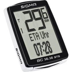 brezžični kolesarski računalnik Sigma BC 16.16 STS kodirano oddajanje s kolesnim senzorjem