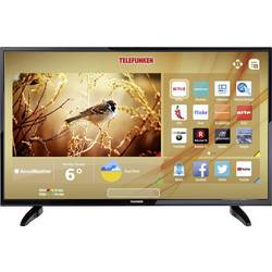 LED-TV 110 cm 43  Telefunken B43U446A energ. razred: A+ DVB-T2, DVB-C, DVB-S, UHD, Smart TV, WLAN, CI+, črne barve
