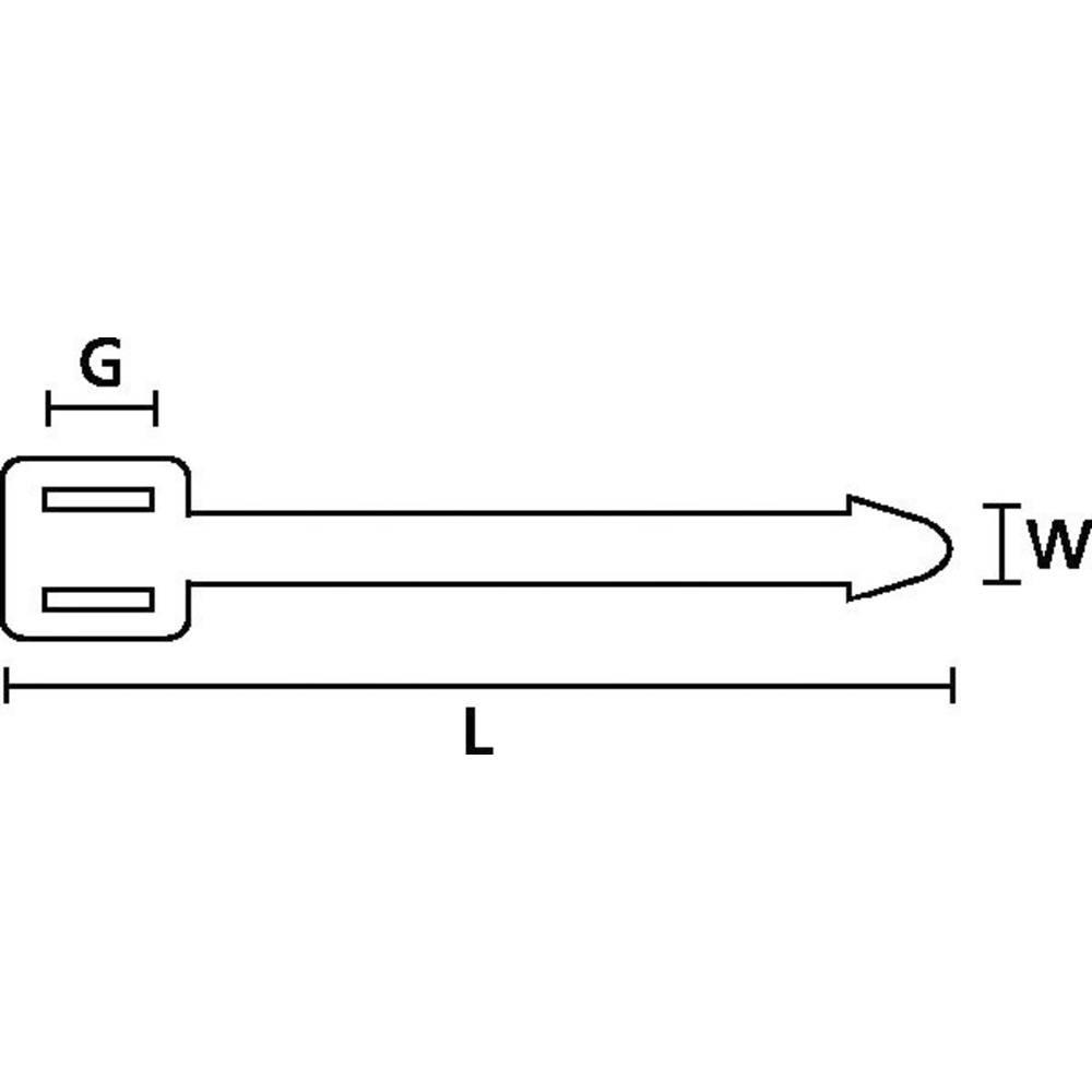 Označevalnik za kable, površina: 62.5 x 4.7 mm naravne barve HellermannTyton AT1 PA66 NA 100 151-41119 1 kos