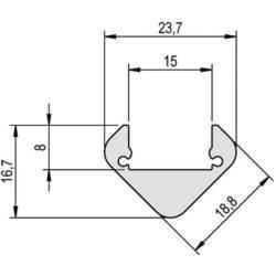 Profil-aluminij (D x Š x V) 1000 x 23.71 x 16.66 mm Barthelme 62399461 62399461