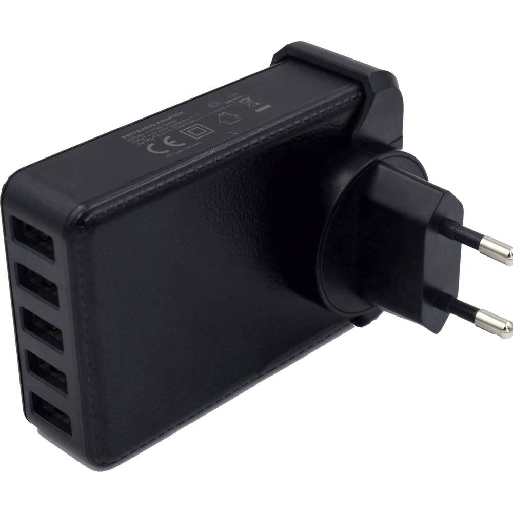 USB-oplader HN Power HNP40-5USB-EU HNP40-5USB-EU Stikdåse Udgangsstrøm max. 8000 mA 5 x USB (value.1390762) Stabiliseret