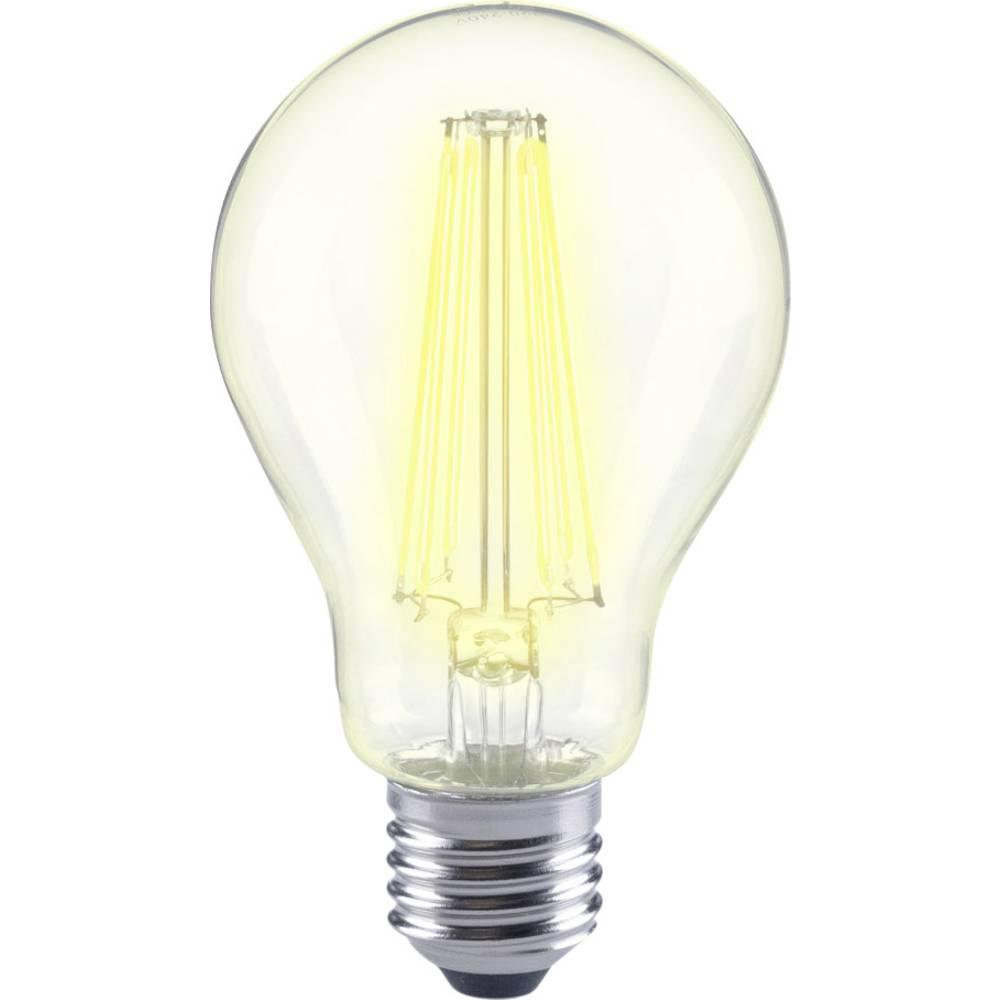 LED žarnica E27 klasična oblika 12 W = 98 W topla bela (premer x D) 67 mm x 118 mm EEK: A++ Sygonix filament 1 kos