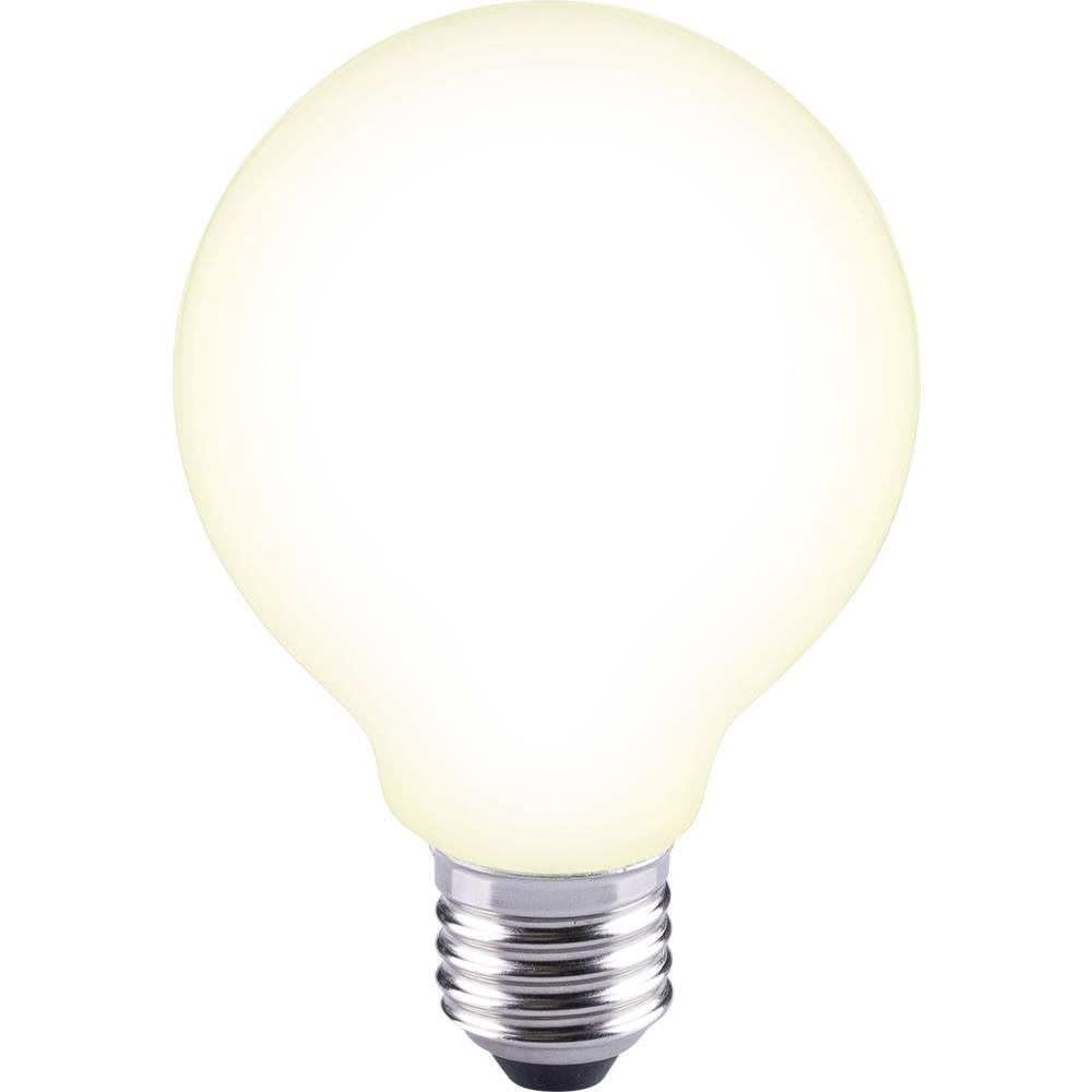 LED žarnica E27 okrogla oblika 12 W = 88 W topla bela (premer x D) 80 mm x 115 mm EEK: A++ Sygonix filament 1 kos