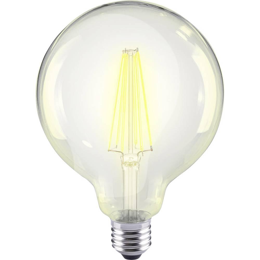 LED žarnica E27 okrogla oblika 12 W = 98 W topla bela (premer x D) 95 mm x 135 mm EEK: A++ Sygonix filament 1 kos
