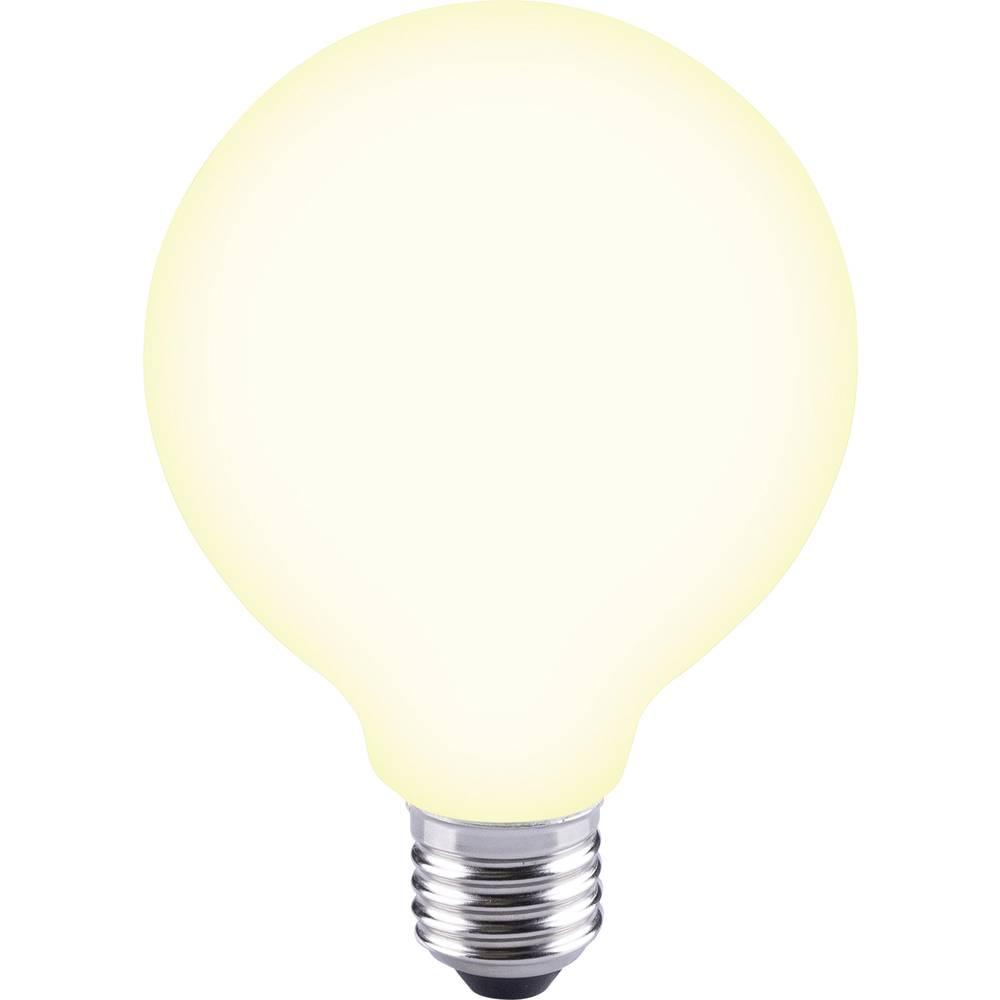 LED žarnica E27 okrogla oblika 12 W = 88 W topla bela (premer x D) 95 mm x 135 mm EEK: A++ Sygonix filament 1 kos